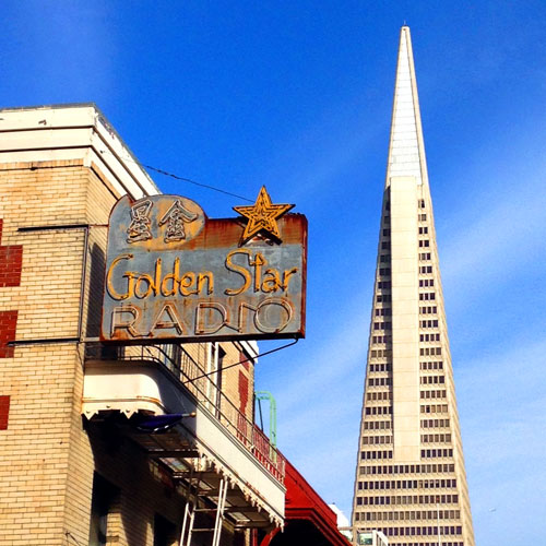 Golden Star Radio Ghost Sign in San Francisco